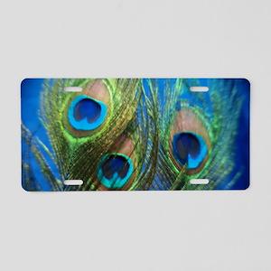 fisheye peacock Aluminum License Plate