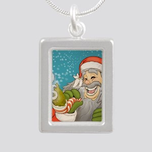 santa_notext Silver Portrait Necklace