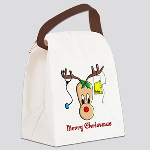 Nurse Reindeer Canvas Lunch Bag