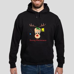 Nurse Reindeer Hoodie (dark)