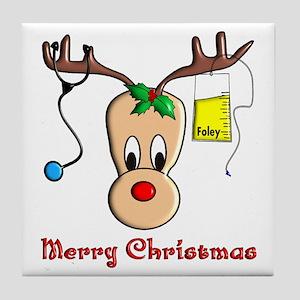Nurse Reindeer Tile Coaster