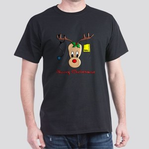 Nurse Reindeer Dark T-Shirt