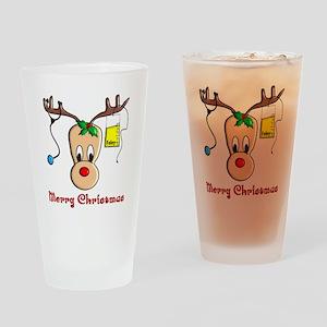 Nurse Reindeer Drinking Glass