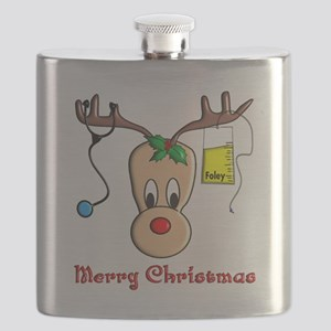 Nurse Reindeer Flask