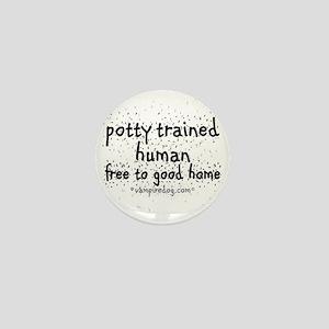 potty trained human copy Mini Button