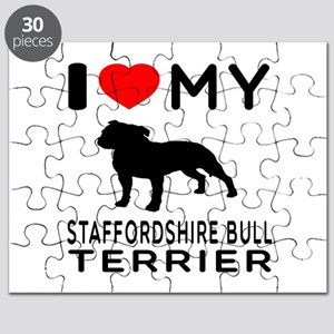 I love My Staffordshire Bull Terrier Puzzle