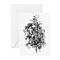 Letter I Greeting Cards (Pk of 10)