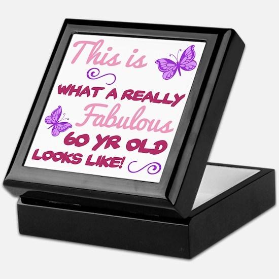 Cute 60th birthday for women Keepsake Box