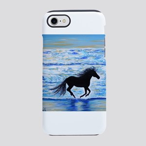 Running Free by the Sea 2 iPhone 7 Tough Case
