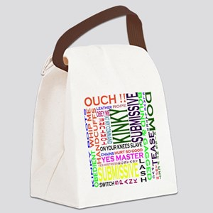words Canvas Lunch Bag