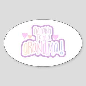 Future Grandma Oval Sticker