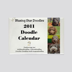 Doodle calendar cover Rectangle Magnet