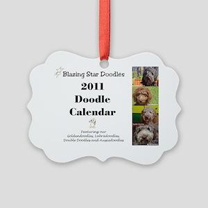 Doodle calendar cover Picture Ornament