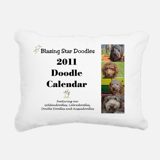 Doodle calendar cover Rectangular Canvas Pillow