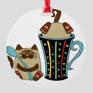 siames-cffee-cp_mug Round Ornament