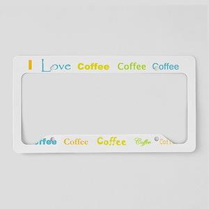 1coffee coffee coffee License Plate Holder