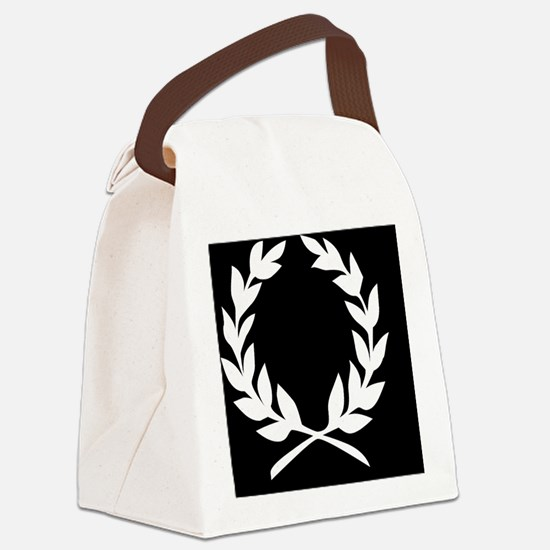 BLACK WREATH  note cards Canvas Lunch Bag