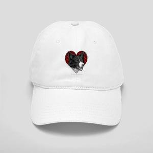Border Collie Heart Cap