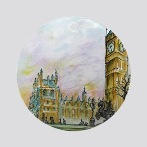 big ben small poster Round Ornament