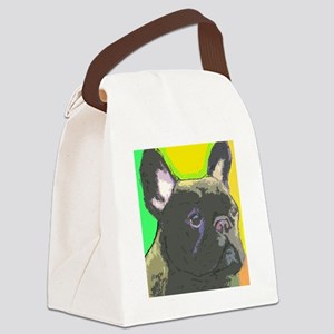 large brindle cafe Canvas Lunch Bag