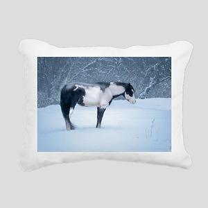 Silent Night. Rectangular Canvas Pillow