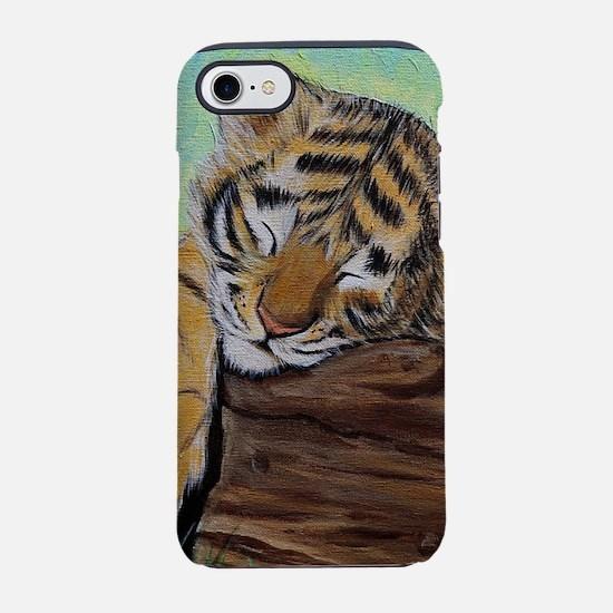 Sleepy Tiger Cub iPhone 7 Tough Case