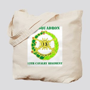 DUI-13TH CAVALRY RGT WITH TEXT Tote Bag