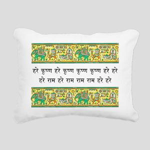 mantra_elephant_stamp Rectangular Canvas Pillow
