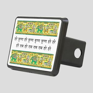 mantra_elephant_stamp Rectangular Hitch Cover