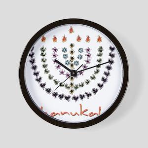 splash menorah 3 Wall Clock