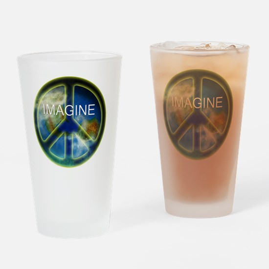 peace sightx2nfont copy Drinking Glass