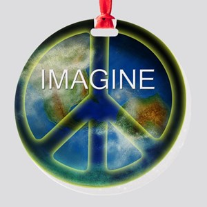 peace sightx2nfont copy Round Ornament