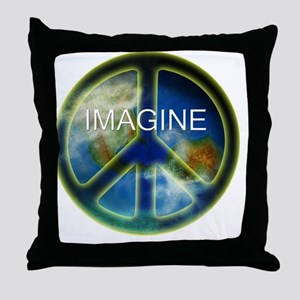 peace sightx2nfont copy Throw Pillow