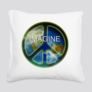 peace sightx2nfont copy Square Canvas Pillow