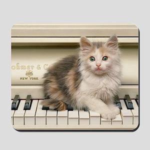 piano kitten panel print Mousepad