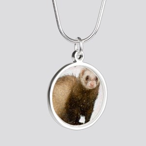ferretcalcover Silver Round Necklace