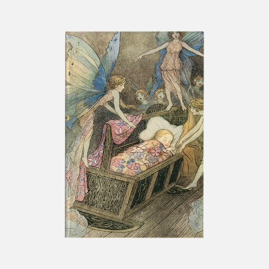 Fairies and Sleeping Beauty Rectangle Magnet