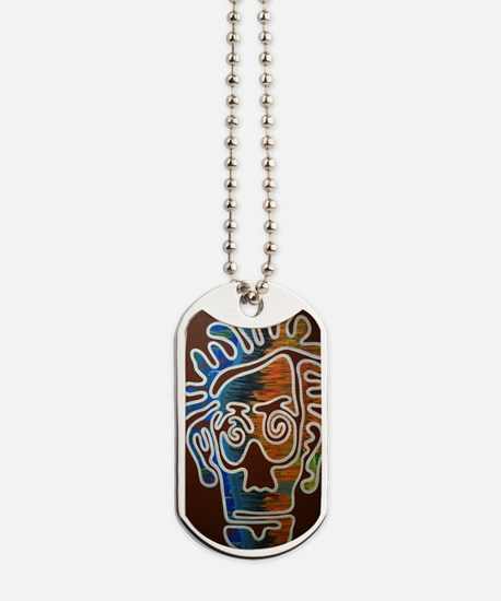 One Line Face Dog Tags