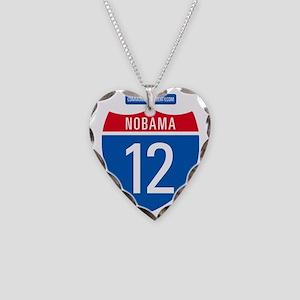 nObama1 Necklace Heart Charm