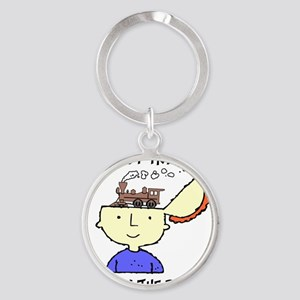 train_Brain2 Round Keychain