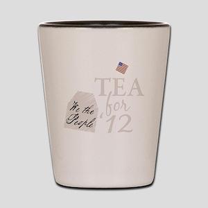tea for 12_dark Shot Glass