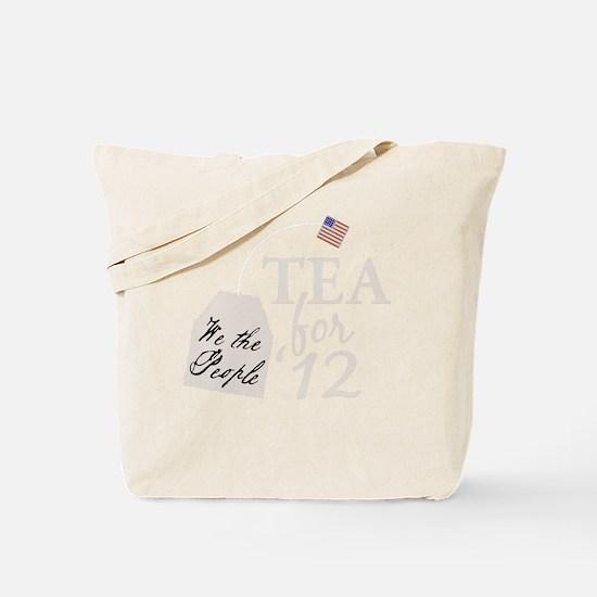 tea for 12_dark Tote Bag
