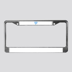 Icicle Heart License Plate Frame
