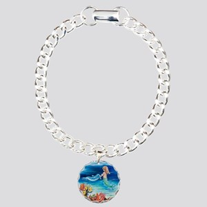 Young Mermaid with Dolph Charm Bracelet, One Charm
