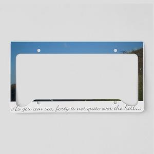 40 th birthday License Plate Holder