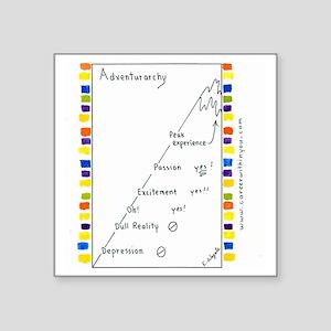 """7 CP Adventurarchy Square Sticker 3"""" x 3"""""""