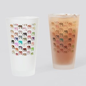 Girly Whimsical Retro Floral Elepha Drinking Glass