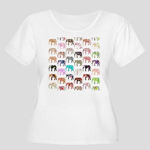 15204ac53927a Animals Elephant Women s Plus Size T-Shirts - CafePress