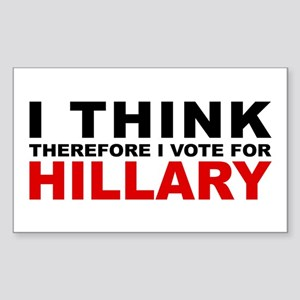 Vote For Hillary Rectangle Sticker