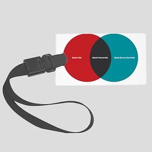 bands-venn-diagram Large Luggage Tag